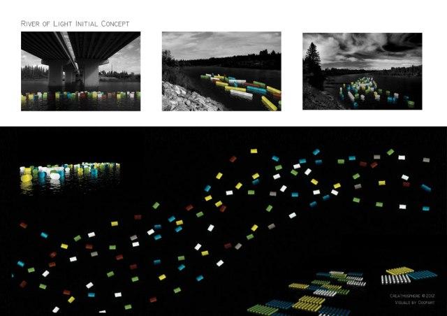 River of Light 2013 - Render of Light Barrels on Water (render credit: Ooopart)