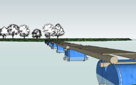 Raft Bridge Concept by Ropes and Poles - Scouts South Africa