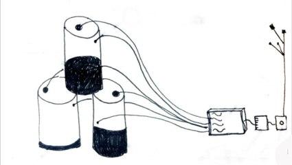 Sketch up of proposed sound barrels